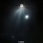 La comète Catalina rencontre Vénus et la Lune -