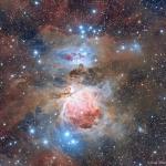Poussière dans la nébuleuse d'Orion