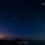 Cinq planètes à l'aube