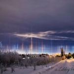 Piliers de lumière sur l'Alaska