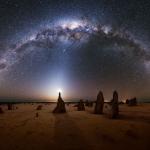 La Voie lactée à l'ouest de l'Australie