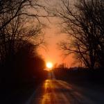 Coucher de Soleil d'équinoxe