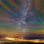 Arc-en-ciel de luminescence du ciel nocturne