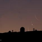 Vénus et la Lune se lèvent