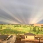 Rayons anticrépusculaires sur le Colorado