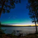 Perséide suédoise à l'aurore noctulescente
