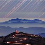 Filé d'étoiles sur le Cerro Tololo