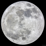 La superlune et la Station spatiale internationale