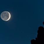 L'oeil du Taureau et la jeune Lune