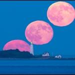 Pleine Lune sur le Boston Light
