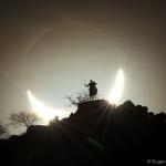 Eclipse solaire hybride sur le Kenya
