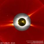 Millefeuille d'éclipse de Soleil