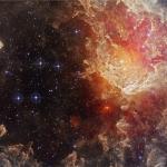 NGC 7822 : étoiles et piliers de poussières dans l'infrarouge