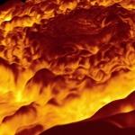 Survol du Pôle Nord de Jupiter en infrarouge