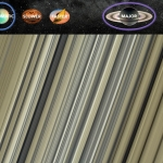 Jouez de la harpe avec les anneaux de Saturne
