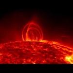 Pluie coronale sur le Soleil