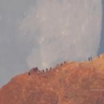 La Lune se couche derrière le mont Teide