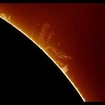 Une protubérance active sur le Soleil