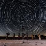 Traînées d'étoiles et cadran radio-solaire de Bracewell