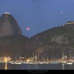 Eclipse de Lune au dessus de Rio
