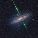 L'étoile filante et la galaxie