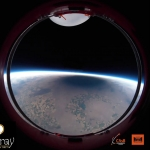 L'ombre de l'éclipse totale depuis un ballon