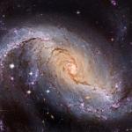 NGC 1672, galaxie spirale barrée vue par Hubble