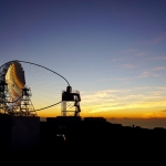 Télescope de Cherenkov au crépuscule