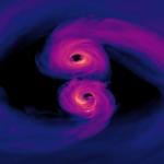 Vidéo de deux trous noirs supermassifs en collision