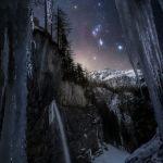 Orion au-dessus des Alpes autrichiennes