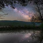 La Voie Lactée dans le ciel du printemps