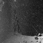 Tempête de neige sur la comète