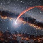 Un trou noir désintègre une étoile