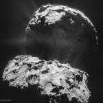 La comète Chury fait pousser sa queue