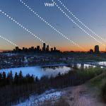 Equinoxes et solstices dans le ciel de l'Alberta