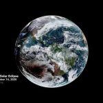 Une éclipse vue de l'espace