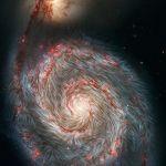 Le champ magnétique de la galaxie du Tourbillon