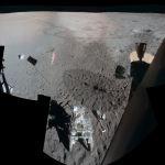 Le site d'Apollo 14 vu depuis le module lunaire Antares