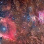 Tête de cheval et nébuleuses d'Orion