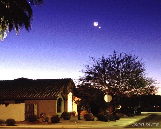 Vénus, la Lune et les voisins