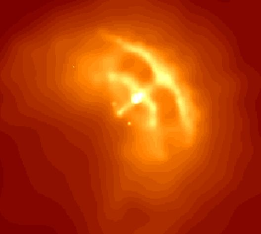 Pulsar de Vela : anneaux et jets d\'une étoile à Neutron - L\'observatoire spatial en rayons X Chandra montre l\'environnement du pulsar de la nébuleuse des Voiles et les arcs cosmiques qu\'il a créés
