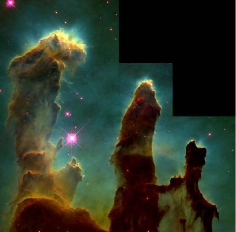 M16 : protoétoiles dans la nébuleuse de l\'Aigle