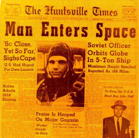L\'Homme arrive dans l\'espace