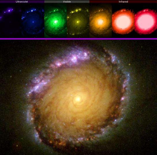 NGC 1512 : vue polychromique