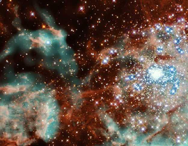 L\'amas d\'étoiles R136