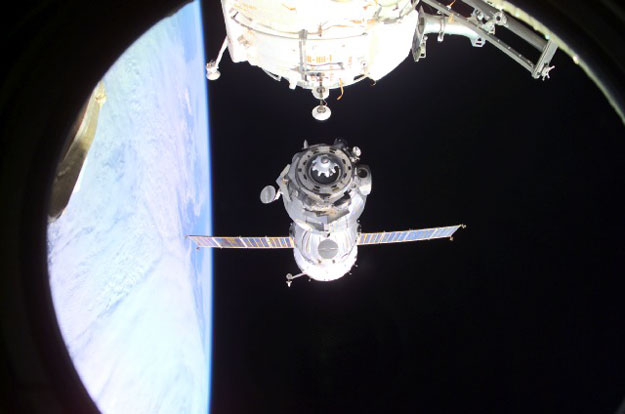 En quittant la Station Spatiale Internationale