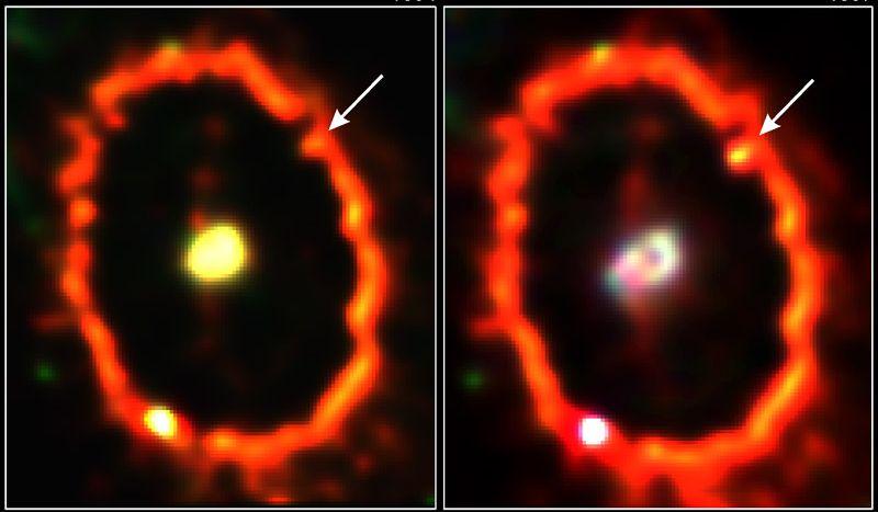 Heurté par la supernova1987A