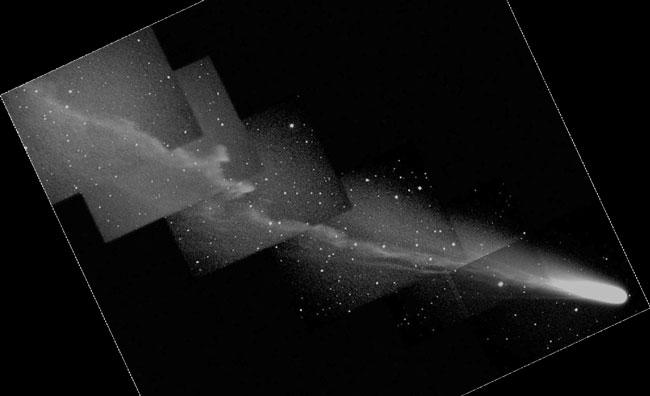 La queue active de la comète Ikeya-Zhang