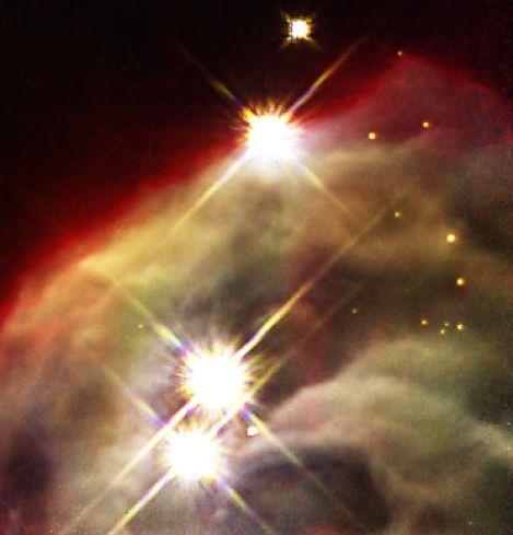 Gros plan sur la Nébuleuse du Cône en infrarouge