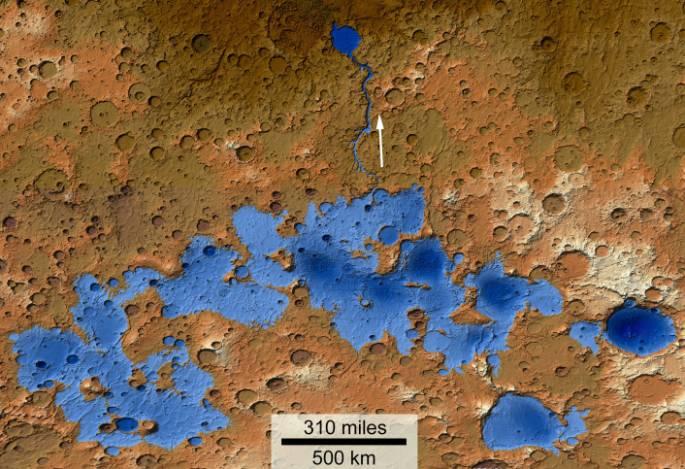 Le creusement de la vallée Ma\'adim - A l\'instar du Grand Canyon sur Terre, il est possible que la vallée Ma\'adim ait été creusée par une rivière d\'eau sur Mars